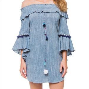 MISA Los Angeles Vanessa Off-the-Shoulder Dress